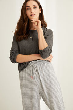 Womensecret Striped grey jogging bottoms printed