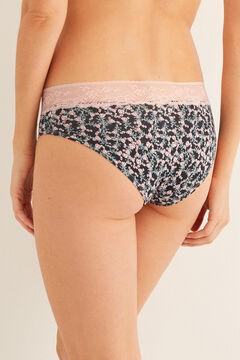 Womensecret Printed full panty pink