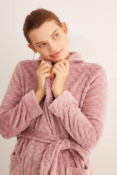 Womensecret Pink fleece robe pink
