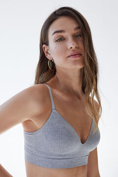 Womensecret LOVELY Grey padded triangle bra grey