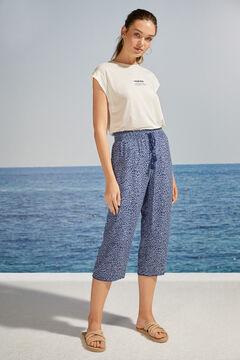 Womensecret Blue animal print capri pyjama bottoms blue