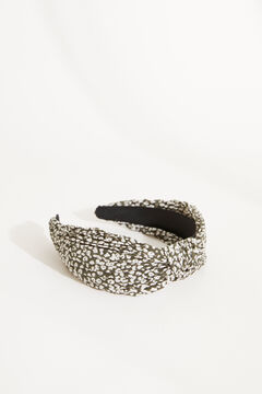 Womensecret Black animal print knot pleated headband black
