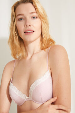 Womensecret GORGEOUS Sujetador push up tiras multiposición rosa