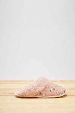 Womensecret Zapatillas destalonadas Snoopy rosa rosa