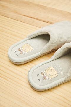 Womensecret Zapatillas destalonadas gris Bob Esponja gris