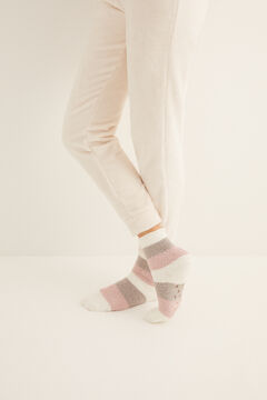 Womensecret Non-slip cosy ankle socks stripes  printed
