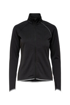 Womensecret Sweatshirt fecho-éclair central preto