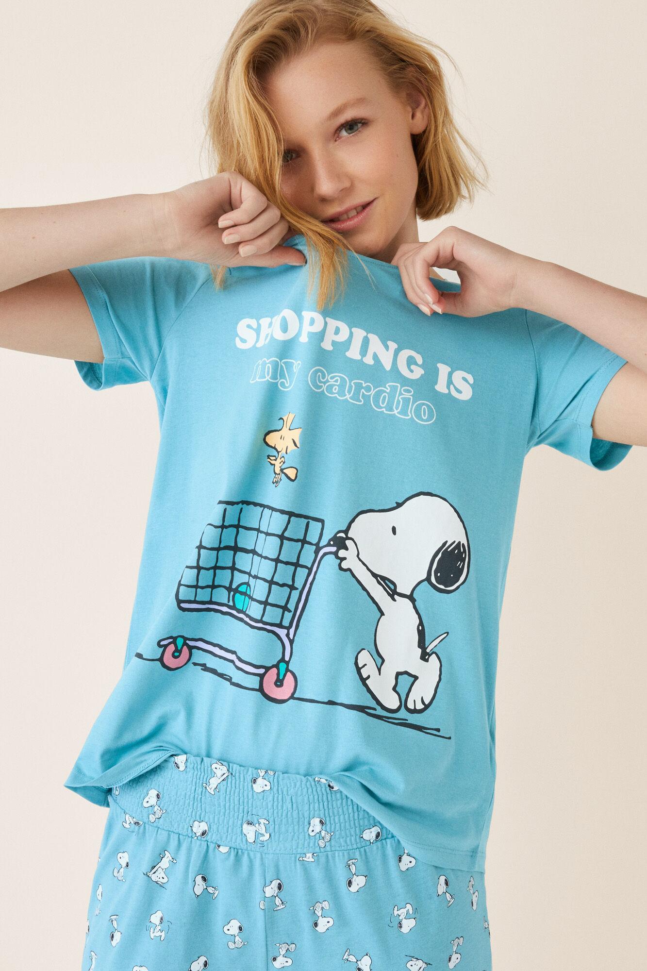 b3fef9f4a Pijama manga corta Snoopy Shopping