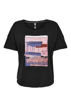 Womensecret T-shirt de manga curta preto