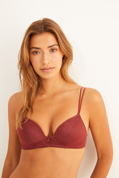 Womensecret Plumetis and lace triangle bra nude