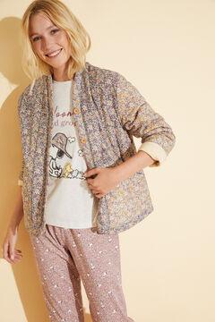 Womensecret Robe de chambre courte matelassée coton imprimé