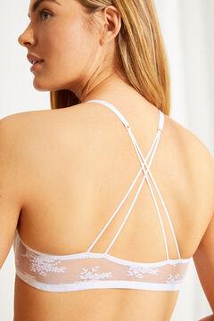 Womensecret GORGEOUS Soutien-gorge push-up dentelle brides blanc blanc