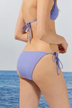 Womensecret Braga bikini clásica azul volantes rosa