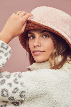 Womensecret Reversible faux shearling hat  nude