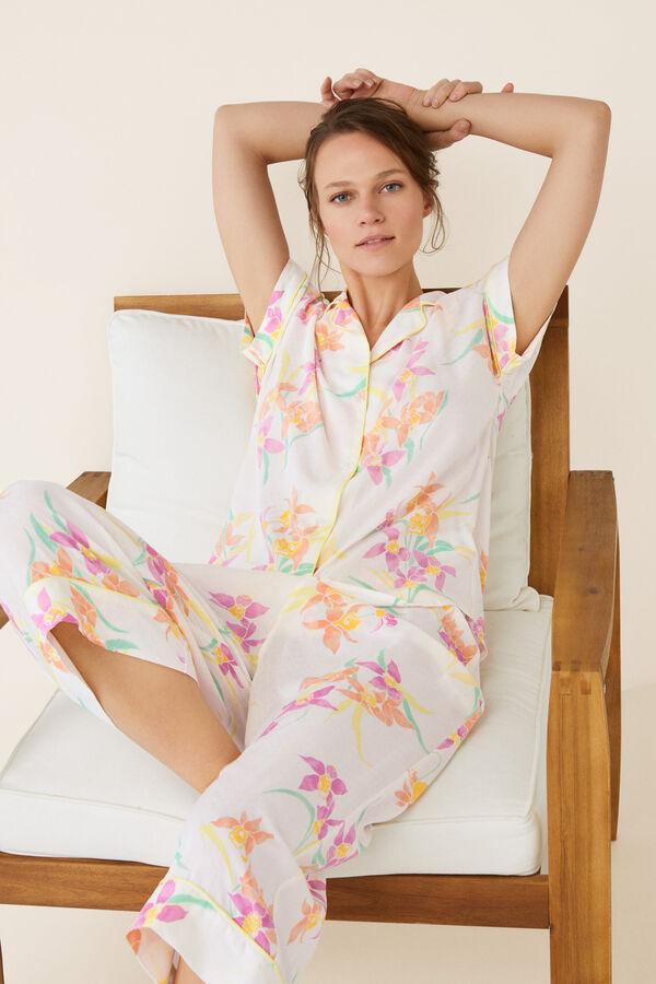 3ba5f60ac Womensecret Pijama largo camisero estampado estampado