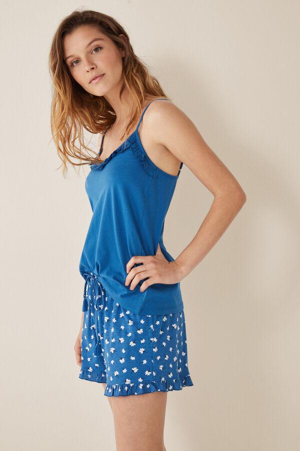 cbf7a98f3 Womensecret Pijama corto flores azul
