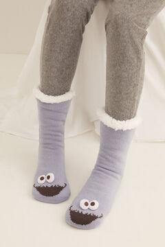 Womensecret Long Cookie Monster non-slip socks blue