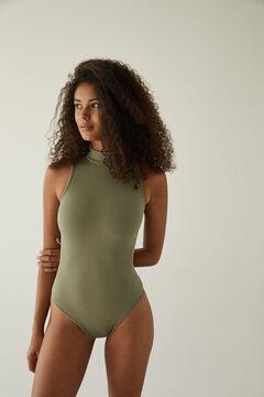 Womensecret Khaki high neck seamless body beige