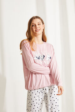 Womensecret Pyjama long Minnie rose rose