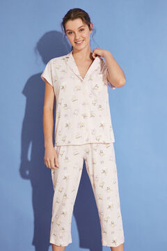 Womensecret Classic long 100% cotton SpongeBob pyjamas pink