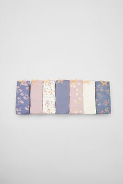 Womensecret Pack 7 cuequinhas algodão estampagem floral rosa