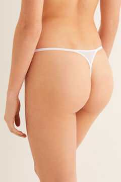 Womensecret Mesh and lace thong white