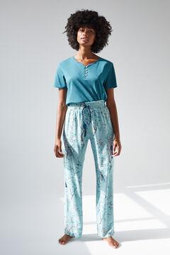 Womensecret Coordonné long green bottoms blue