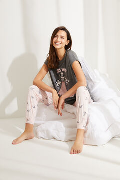 Womensecret Pijama manga larga Supernenas gris gris