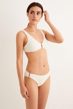 Womensecret Top bikini dos nu anneau beige