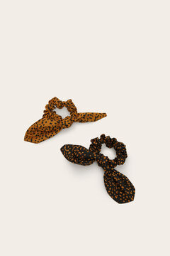 Womensecret Pack of two animal print scrunchies white