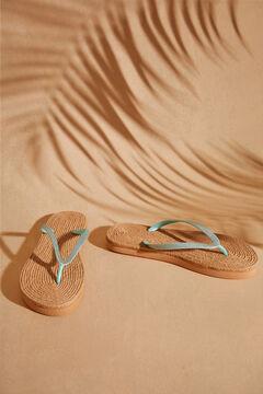 Womensecret Blue sparkly flip-flops blue