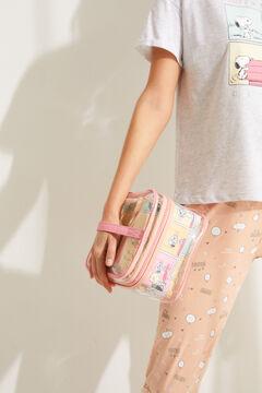 Womensecret 3-pack multicoloured Snoopy vanity cases printed