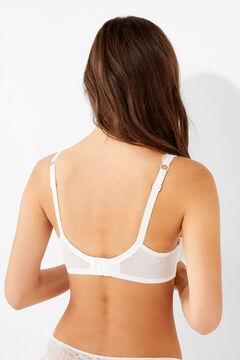 Womensecret Classic lace and plumetti bra white