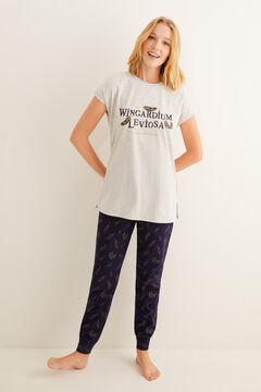 Womensecret Pyjama à manches courtes Hermione 100 % coton gris