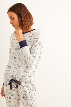 Womensecret Pyjama long coton Harry Potter gris bleu