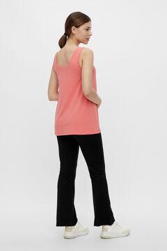 Womensecret 2-function strappy T-shirt burgundy