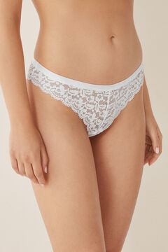 Womensecret Lace Brazilian panty white
