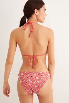 Womensecret Triangle flounced bikini top pink
