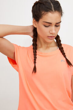 Womensecret Camiseta entrenamiento manga corta rojo
