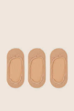 Womensecret Pack of 3 invisible socks nude