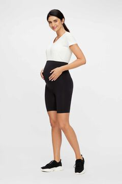 Womensecret Recycled nylon seam-free maternity shorts black