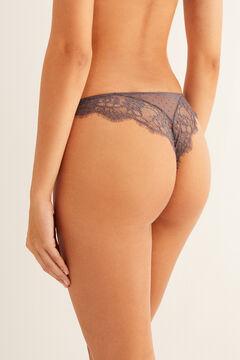 Womensecret Plumetis Brazilian panty grey