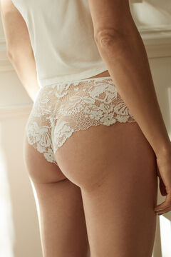 Womensecret White lace full panty white