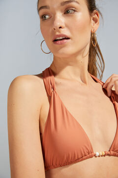 Womensecret Orange halterneck bikini top red