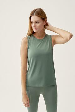 Womensecret Camiseta Mesh Alga verde