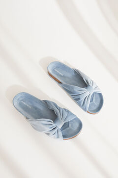 Womensecret Blue knot front slippers blue