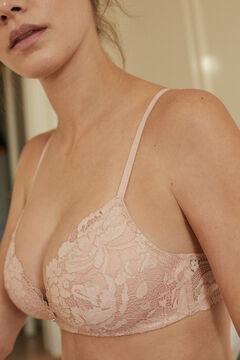 Womensecret LOVELY Sujetador triangular encaje rosa rosa