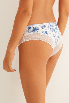 Womensecret White lace boyshort Brazilian panty white