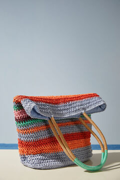 Womensecret Multicoloured striped long handles bag printed
