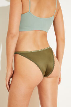 Womensecret Green strappy Brazilian panty green